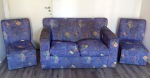 Juego de sillones usado (3 piezas)