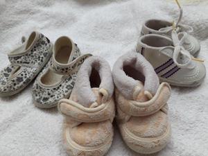 Lote zapatitos para bebé talle