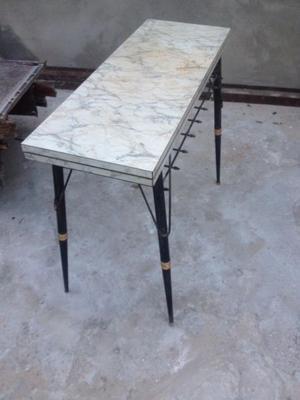 Mesa plegable pies de hierro