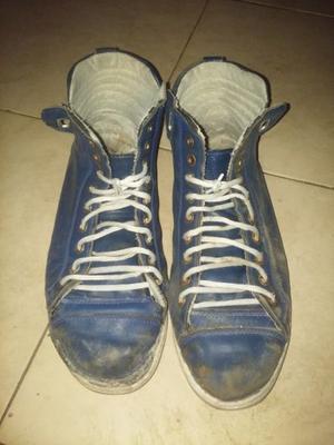 Botitas lacoste de cuero azules talle 45