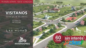 VENTA DE TERRENOS FINANCIADOS EN PESOS 60 CUTAS