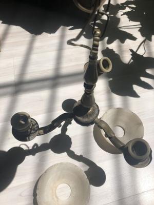 Lampara bronce macizo