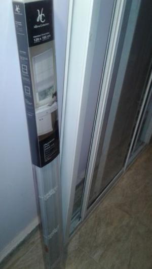 Ventana corrediza de aluminio de 1.20 x1.50 mts, con