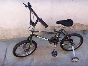 bicicleta rodado16 con rueditas usada