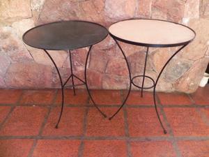 mesa redonda de hierro para mosaiquismo