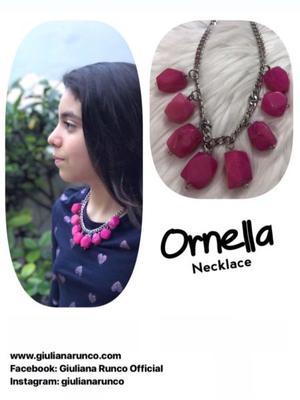 """Collar de piedras naturales y acero """"Ornella"""""""