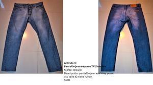 Pantalón jean vaquero T42 hombre