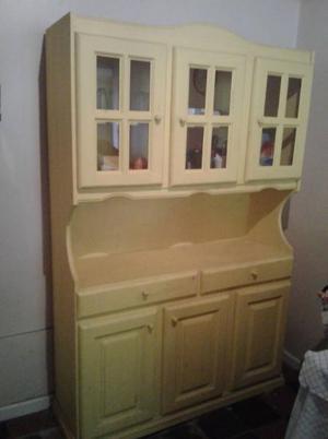 Vendo mueble de cocina de pino pintado 6 puertas | Posot Class