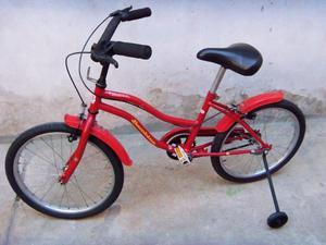 bicicleta para niña rodado 20 con rueditas muy buena usada