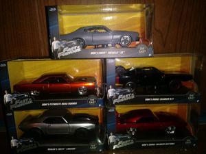 5 autos coleccion rápido y furioso