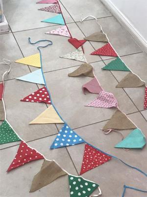 Set de 4 banderines de tela