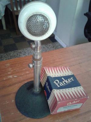 "VENDO MICROFONO ANTIGUO ""PARKER STANDART"", EN SU CAJA"