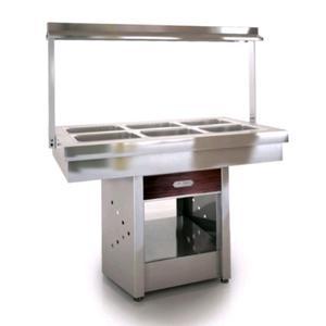 Exhibidora horizontal calentador de comida