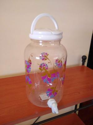 Jarron de Plastico con Dispenser para Bebidas