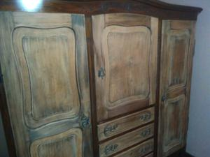 Juego Dormitorio Antiguo Provenzal 5 Piezas