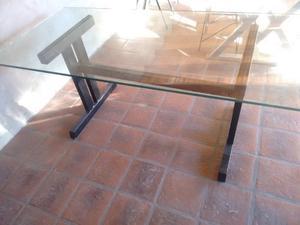 Mesa de vidrio de 15mm