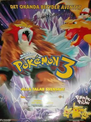 afiche de cine original pokemon importado