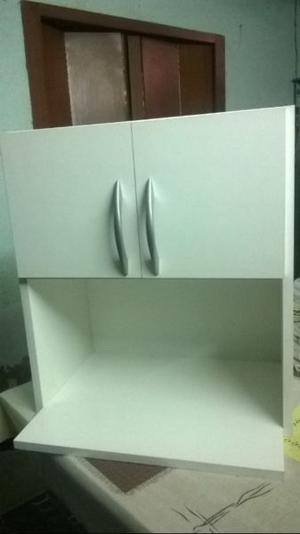 alacena porta microondas u horno,nuevo con herrajes para