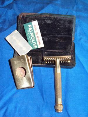 gillette maquina de afeitar antigua made in usa