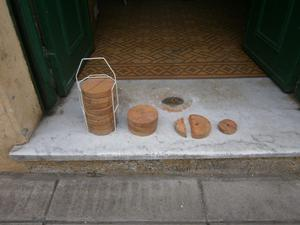 tejo de madera usado