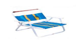 par de sillas para tomar sol o descansar- hierro y lona -son