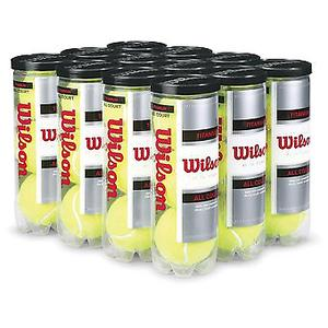 7 tubos de Pelotas de tenis wilson titanium