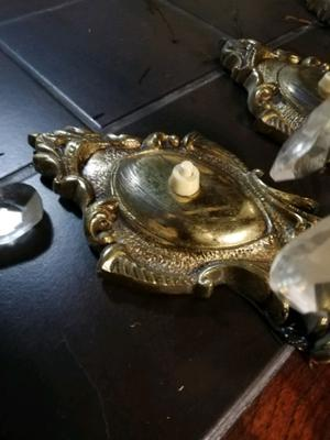 Aplique de bronce con caireles