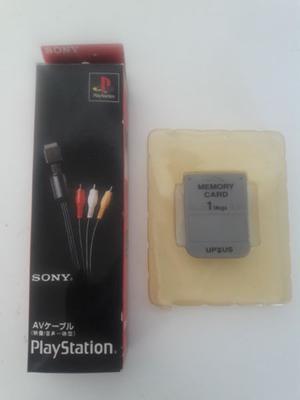 Cable Audio Y Vídeo a TV Para Play 1, 2 & 3 + Memory