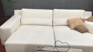 Conjunto de Sofá cama de 2 cuerpos en ecocuer y otros