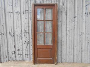 Antigua puerta de madera en cedro con marco (78x194cm)