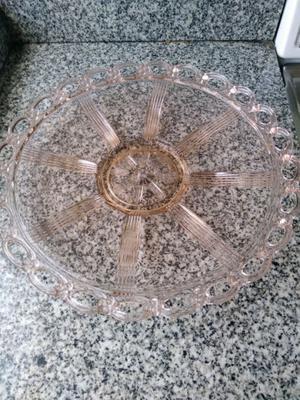 FRUTERA / CENTRO DE MESA cristal rosa