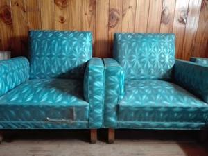 Juego sillones Living estilo Vintage 3cuerp + 2 cuerpo indiv