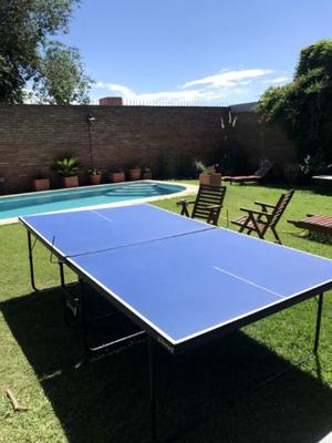Mesa de ping pong plegable con rueditas, Córdoba, muy poco