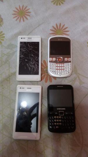 Set de celulares con bateria