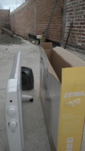 radiador ATMA y caloventor DURABRAND