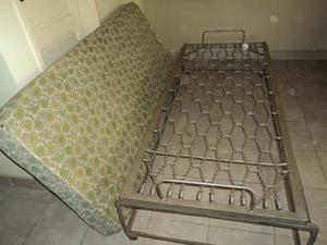 Catre / cama Plegable y Deslizable Hierro 1 Plaza, CON