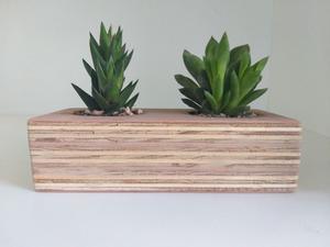 Macetas Decorativas en madera natural