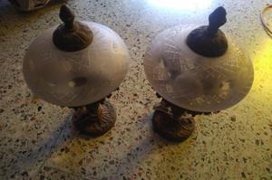 2 Veladores de bronce