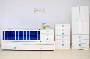 Juego completo de dormitorio de bebés completo sin uso