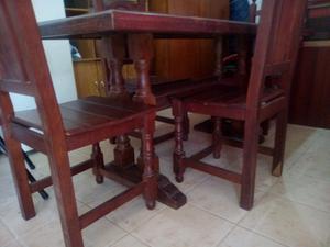Vendo mesa sillas algarrobo