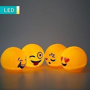 Lampara Velador Emoji 15cm Luz De Noche