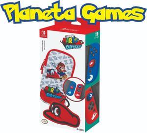 Funda Oficial Starter Set Super Mario Odyssey Nintendo