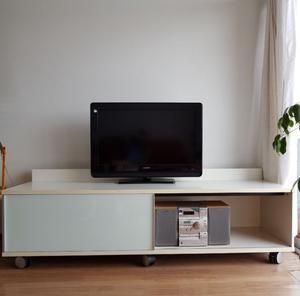 Mueble tv Mesa Rack LCD con ruedas