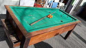 Pool O Billar Muy Antiguo A Restaurar #1753