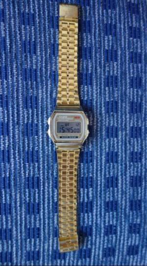 Reloj pulsera Casio A169W dorado como nvo Japon