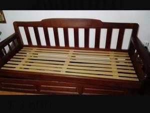sillon divan cama de algarrobo con carrocama