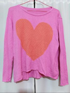 Sweater Rosa Corazón