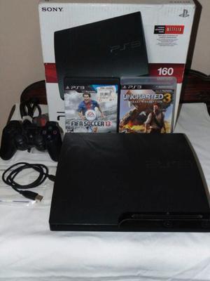 Play Station 3 PS3 Slim en caja con fifa