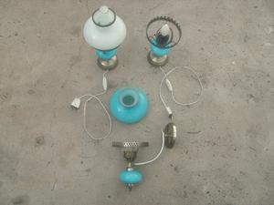 Veladores antiguos y lampara