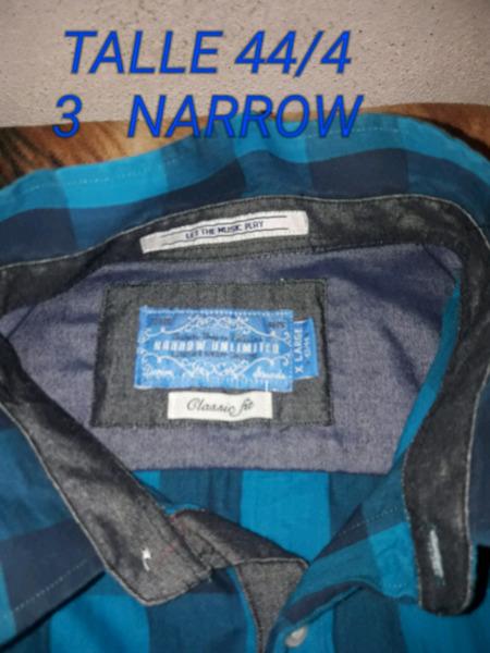 Camisas NARROW casi nuevas